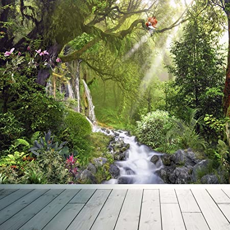 Tropical rainforest waterfall wall mural photo wallpaper relax calm tropical rainforest waterfall wall mural photo wallpaper relax calm birds large 1500mm x 1150mm voltagebd Image collections