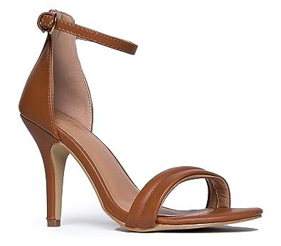 Amazon.com | Ankle Strap High Heel Strappy Sandal - Dress Wedding ...