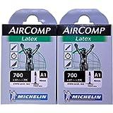 2本セット ミシュラン Michelin ラテックスチューブ 700C 仏式 AIRCOMP Latex A1 (700×22/23c(バルブ長40mm)) [並行輸入品]