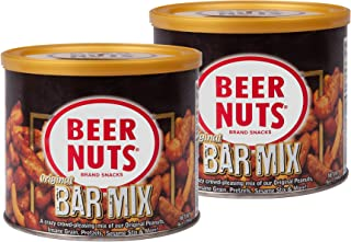 product image for BEER NUTS Original Bar Mix - 9oz Resealable Can (Pack of 2), Pretzels, Cheese Sticks, Sesame Sticks, Roasted Corn Nuts, and Original Peanuts