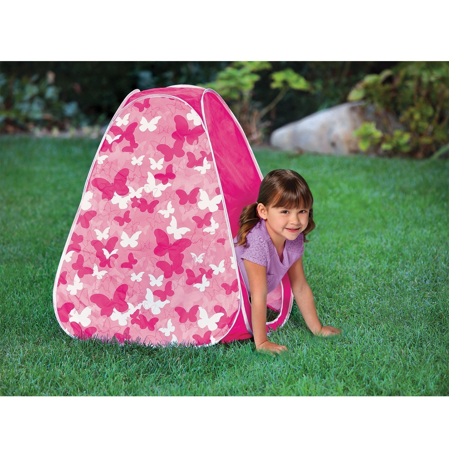 Amazon.com Discovery Kids Pop-up Tent Butterfly and Pink Camo Motiff Personal Reading and Play Space Toys u0026 Games  sc 1 st  Amazon.com & Amazon.com: Discovery Kids Pop-up Tent Butterfly and Pink Camo ...