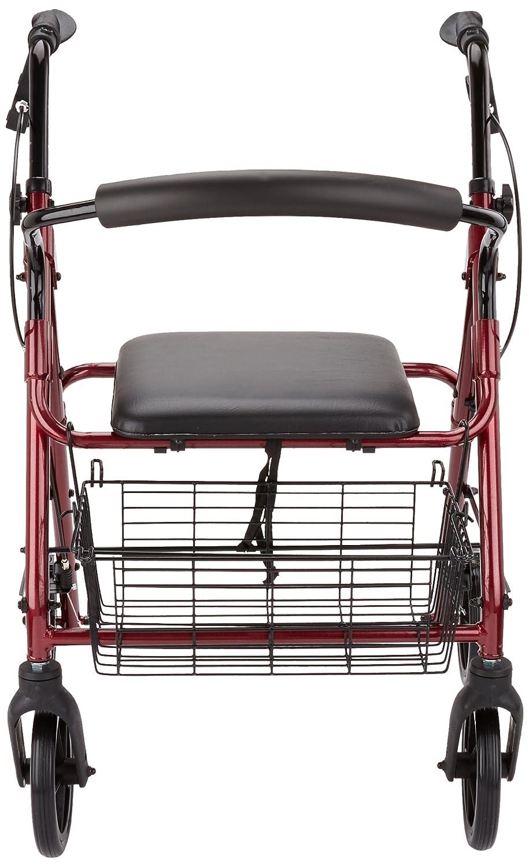 Patterson Medical - Andador con frenos y 4 ruedas, color ...