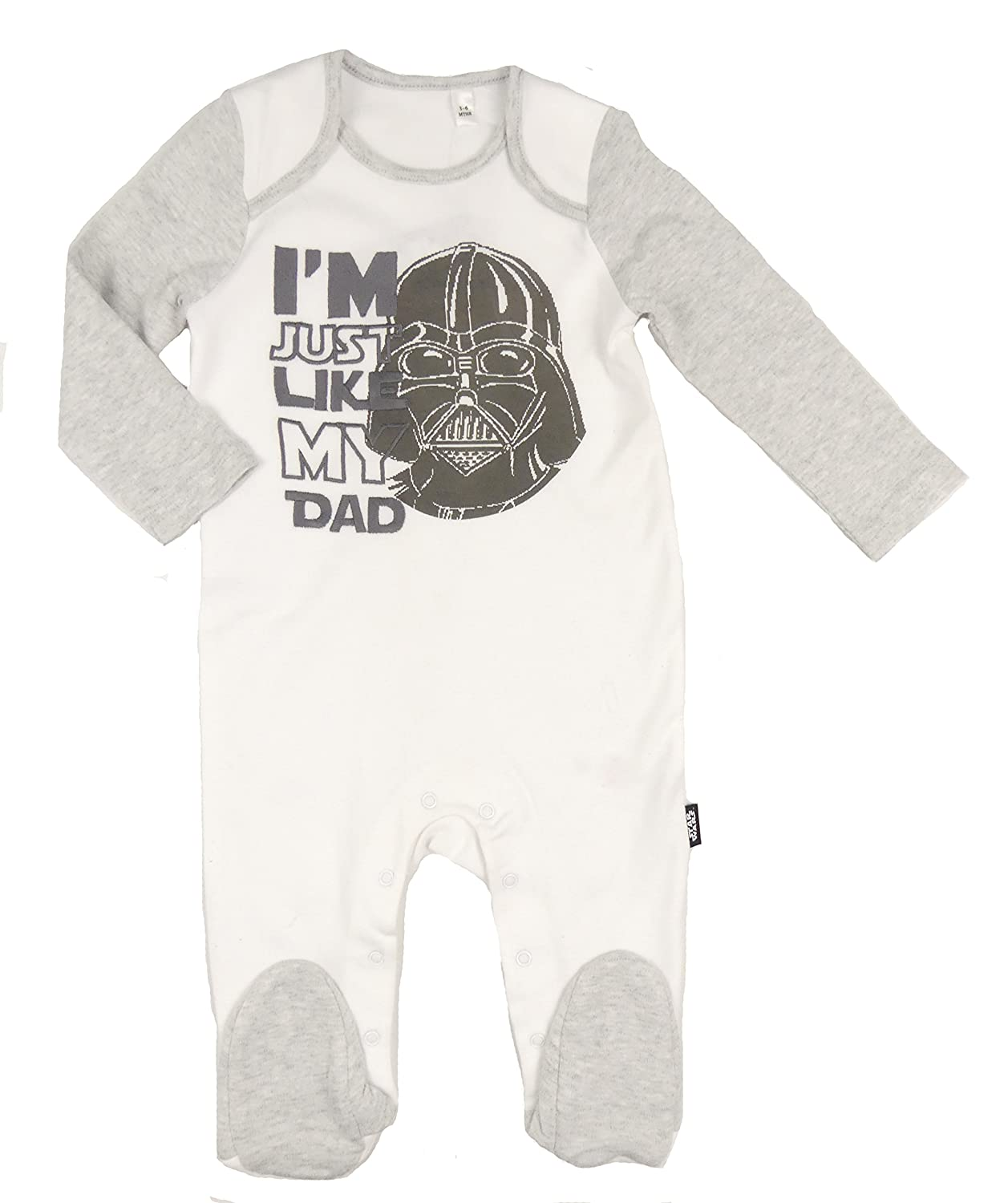 BHS Star Wars Darth Vader Sleepsuit Baby Grow Romper I am Just Like My Dad Theme