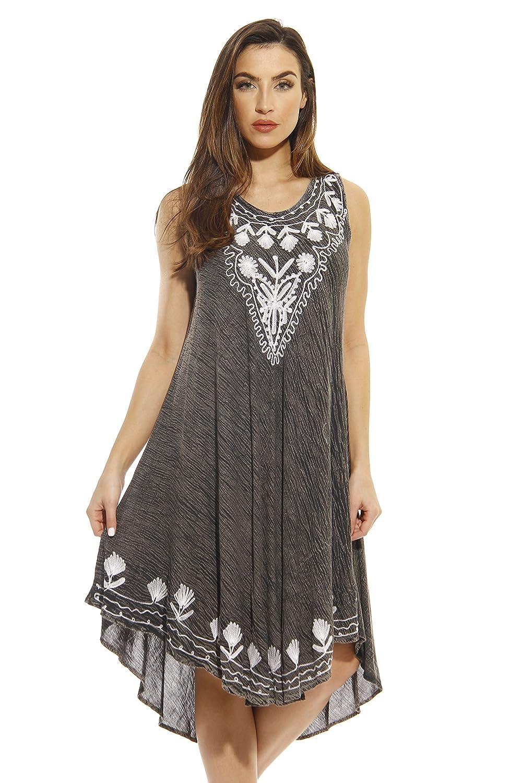 Lands\' End Women\'s Plus Size Cotton Jersey Tunic Dress Cover-up ...