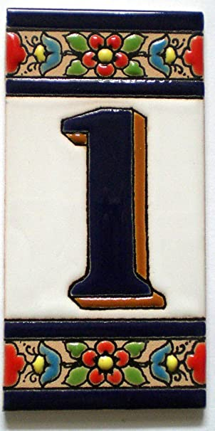 Spanish Ceramic House Numbers and Letters Mediterranean Tiles