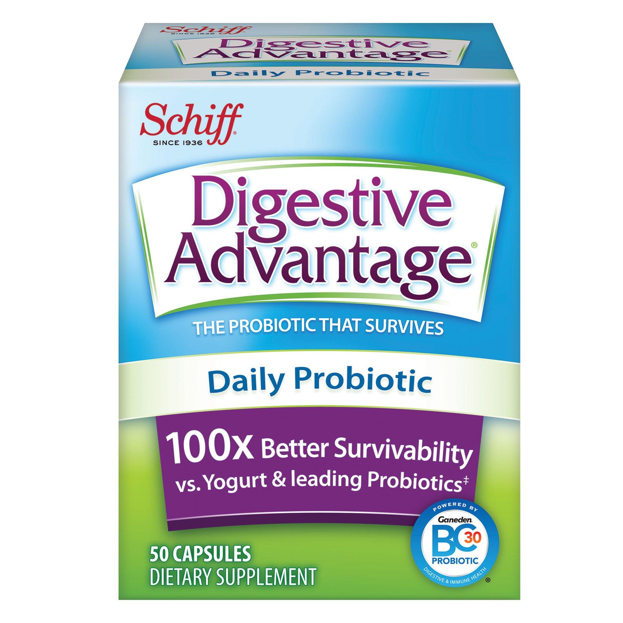 Digestive Advantage Probiotics - Daily Probiotic Capsules, 50 Count