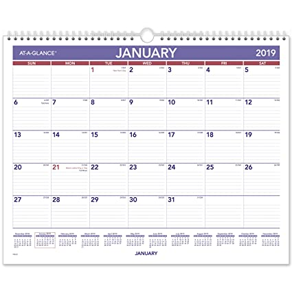 amazon com at a glance 2019 monthly wall calendar 15 x 12