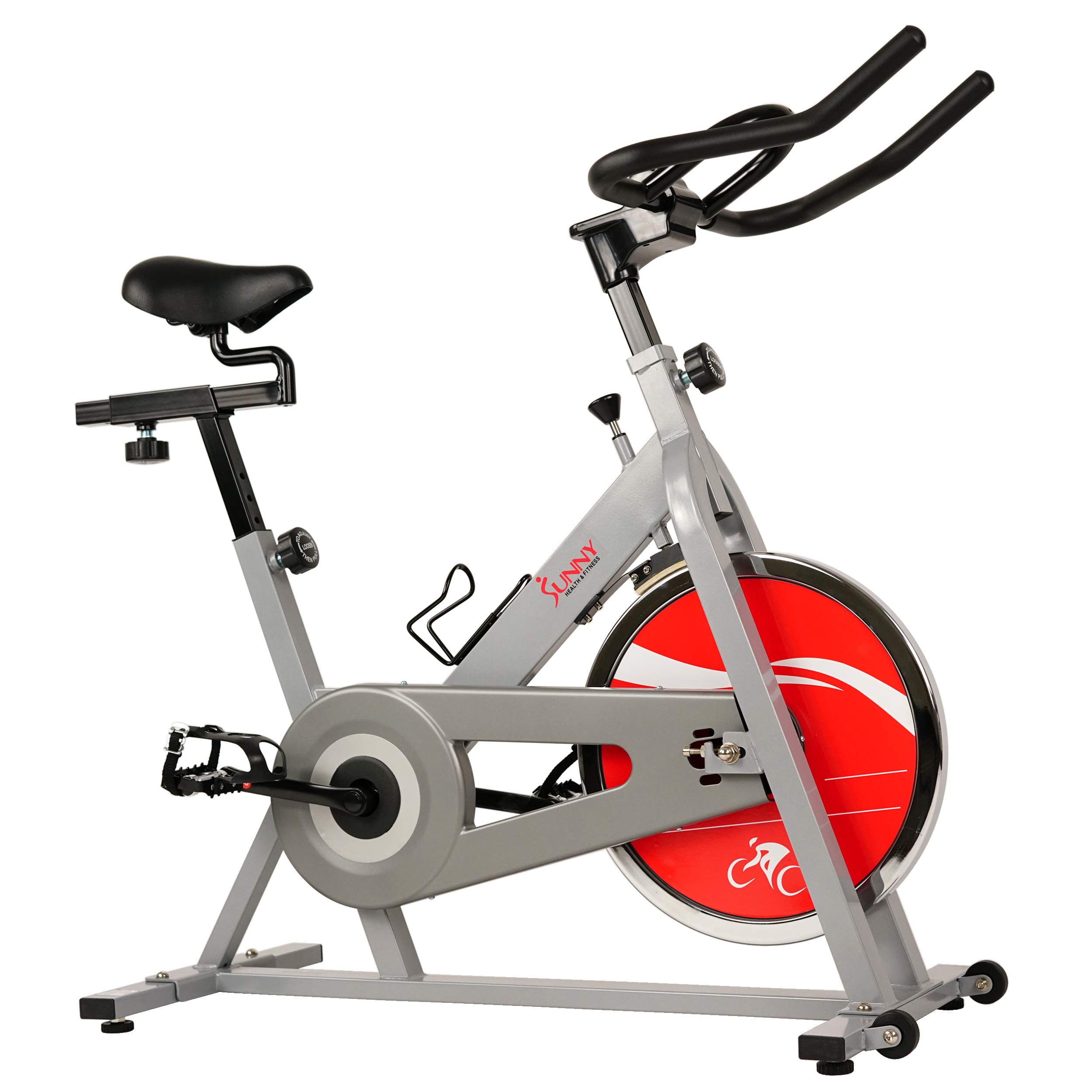 Sunny Health & Fitness SF-B1001S Indoor Cycling Bike, Silver by Sunny Health & Fitness (Image #2)