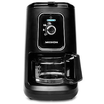 Medion MD 17384 - Cafetera con molinillo, 900 W, 600 ml Depósito Volumen, función 2 en 1, 2 niveles de molido, filtro permanente, negro: Amazon.es: Hogar