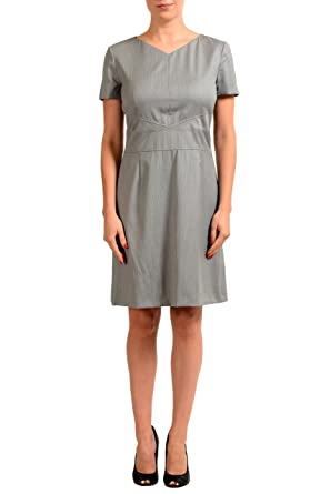 a050704c182 Image Unavailable. Image not available for. Color  Hugo Boss Daplna Wool  Multi-Color Striped Women s Sheath Dress ...