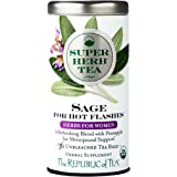 The Republic Of Tea Organic Sage SuperHerb Herbal Tea For Hot Flashes, 36 Tea Bag Tin