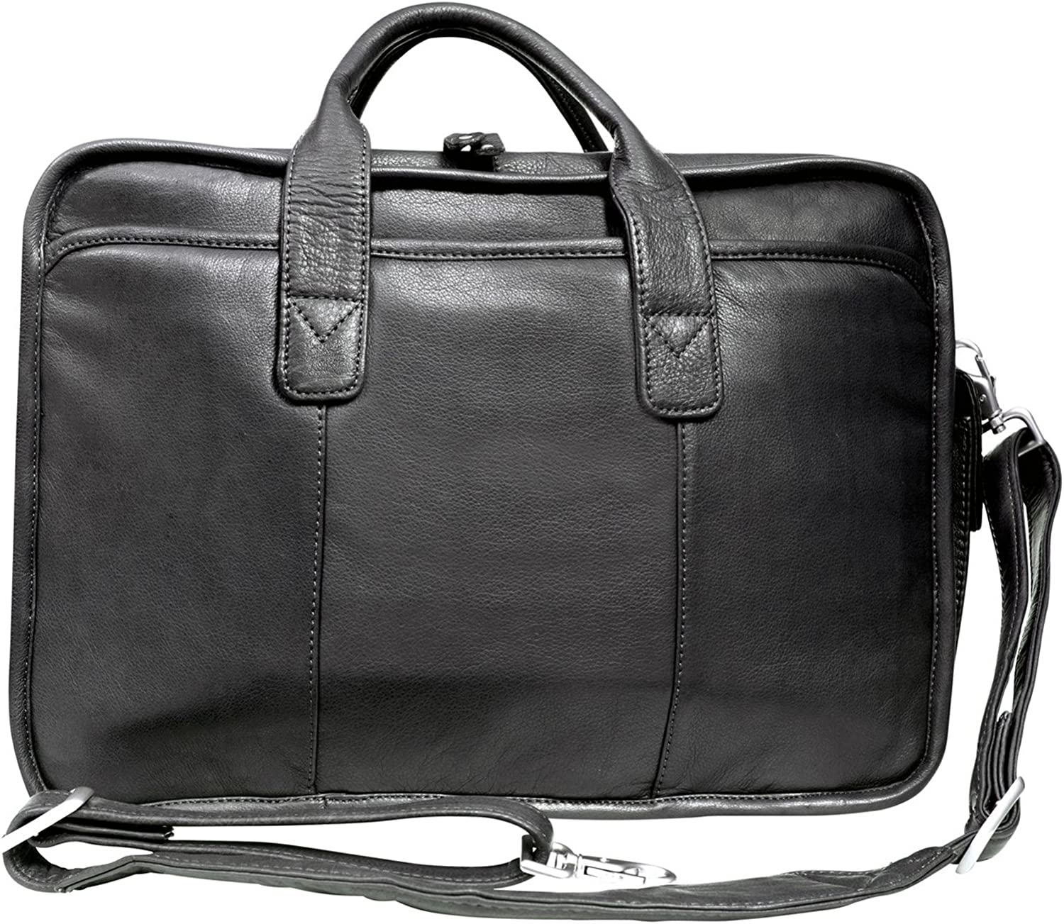 Inc Glacier Canyon Slim Leather Briefcase Canyon Outback Leather Goods Great for Men and Women Laptop Sleeve
