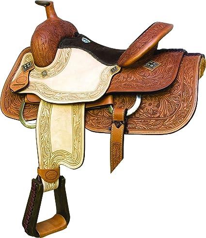 Amazon com : Billy Cook Saddlery Texas RO Barrel Saddle 16 : Sports