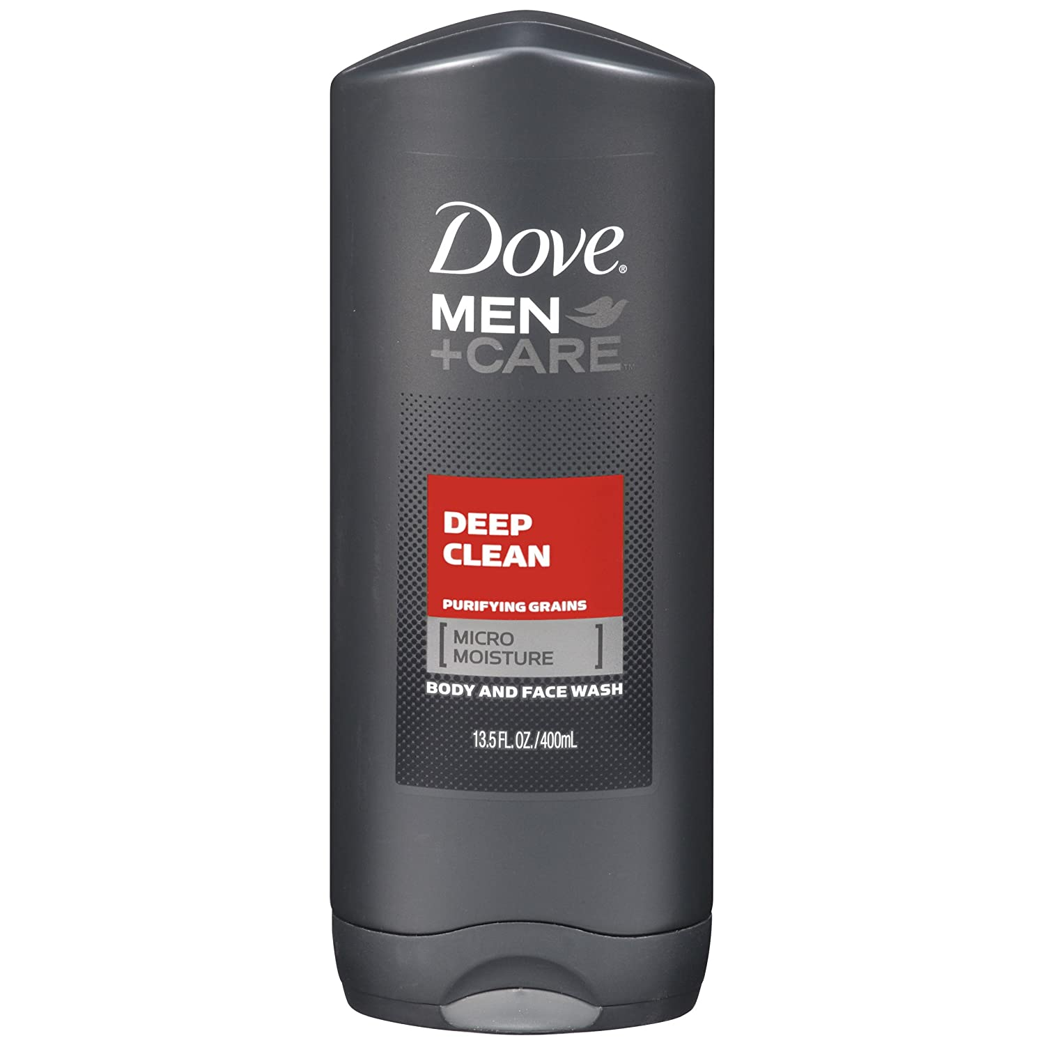 Dove Men + Care Body and Face Wash, Deep Clean, 13.5 Ounce (2 Pack)