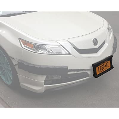 Luv-Tap Bumper Thumper Ultimate Complete Coverage Front Bumper Guard Shock Absorbing Flexible License Plate Frame Protection System (License Plate Frame ONLY): Automotive