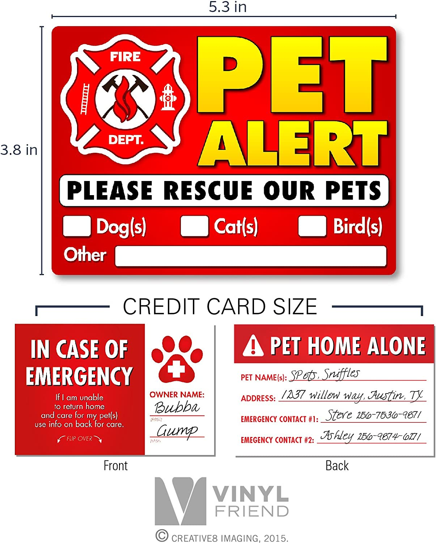 Amazon.com: Pegatinas de alerta de mascotas de vinilo para ...