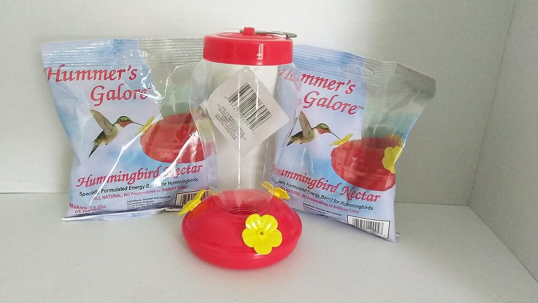 Hummingbird Nectar and Feeder