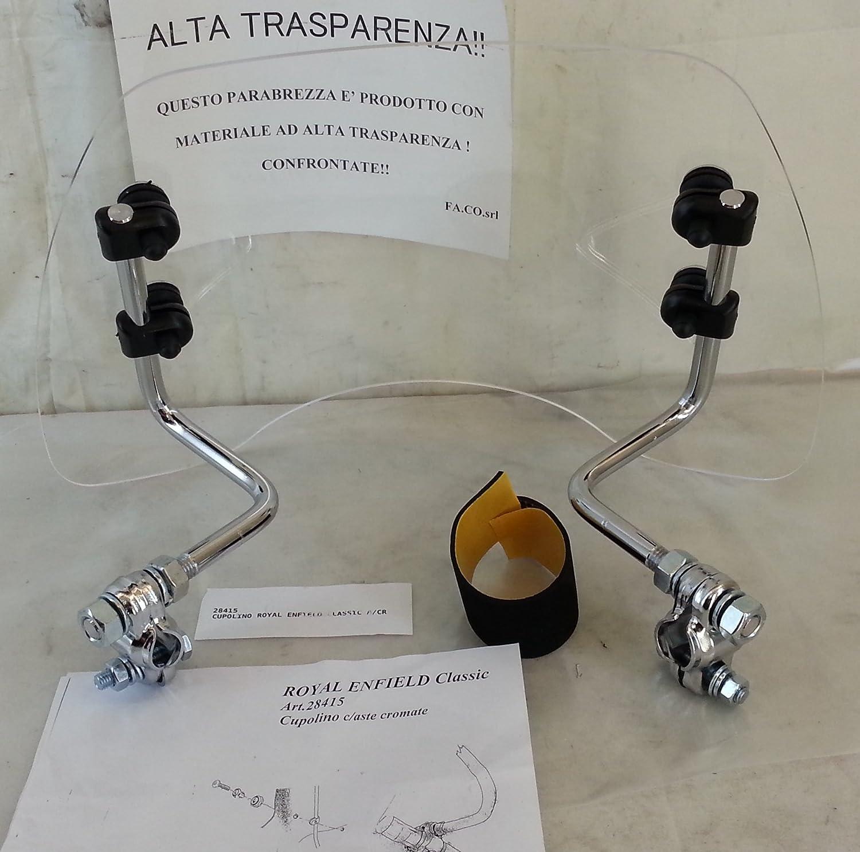 CUPOLINO CHIARO TRASPARENTE ASTE CROMATE ROYAL ENFIELD BULLET cod.28415
