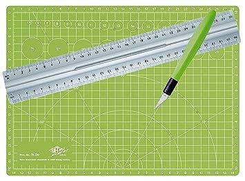 silber apfelgr/ün /& 525235 Lineal aus Aluminium 30 cm beidseitig bedruckt CM 30 Wedo 79230 Schneidematte Comfortline A4 30 x 22 x 0,3 cm selbstschlie/ßende Oberfl/äche