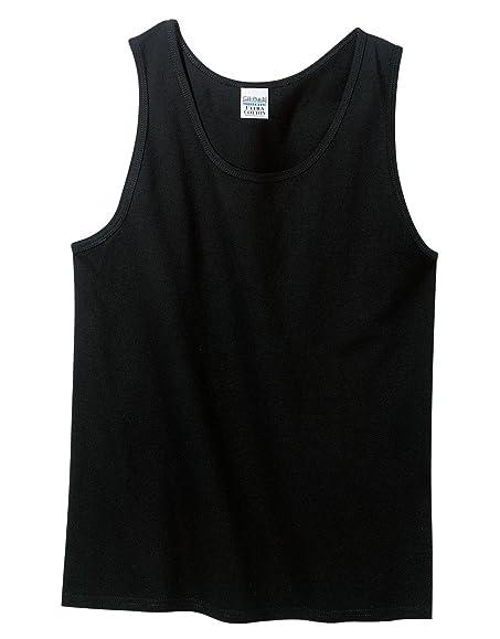 Gildan Mens 6.1 oz. Ultra Cotton Sleeveless T-Shirt G270 -BLACK S