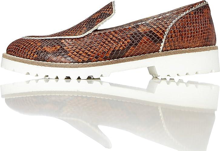 Marca Amazon - find. Mocasines de Piel para Mujer: Amazon.es: Zapatos y complementos