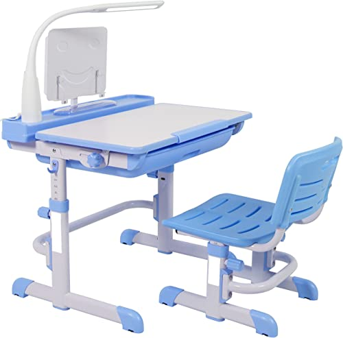 Choice Products Height Adjustable Children's Desk and Chair Set For Kids Work Station