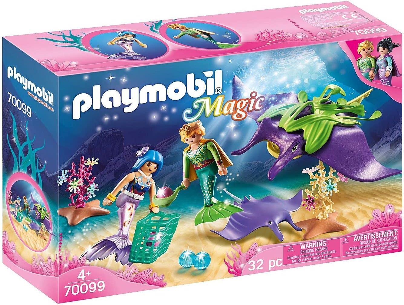 PLAYMOBIL Mermaid Pearl Collectors with Manta Ray