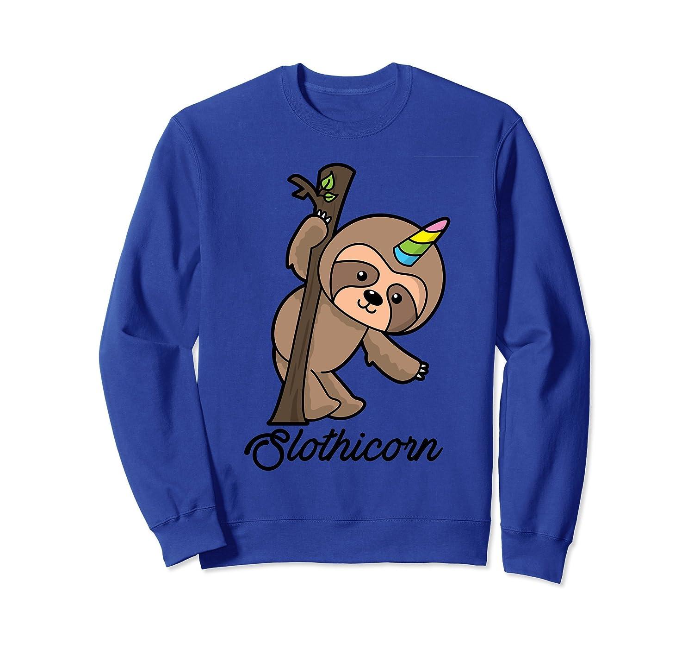 Cute Sloth Sweatshirt for Women and Girls - Slothicorn-mt