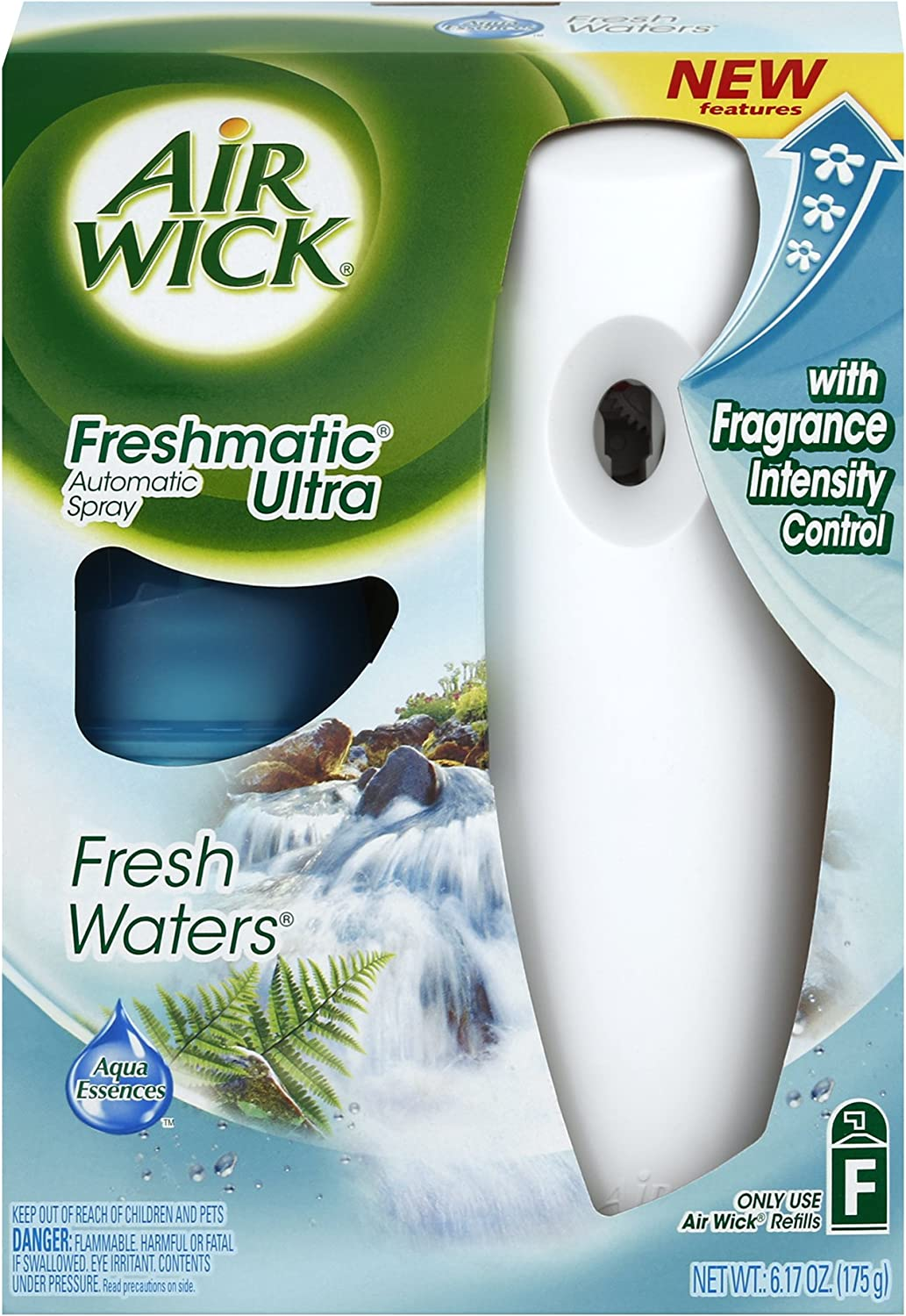 Air Wick Freshmatic Automatic Air Freshener Spray Starter Kit, Fresh Waters Scent, 1 Count
