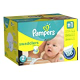 Amazon Price History for:Pampers Swaddlers Diapers Size 2 Economy Pack Plus 186 Count,  (Packaging May Vary)