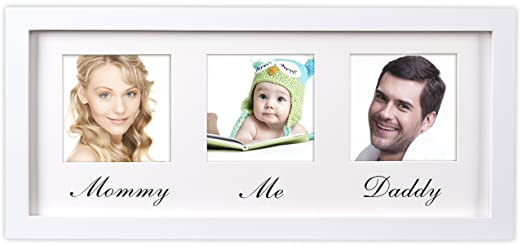 Amazon.com : Mommy Daddy Me Frame, White - Solid Wooden Wall Hanging ...