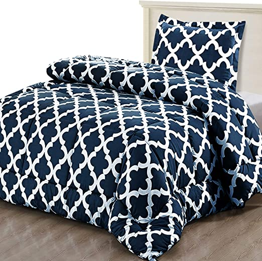 Luxurious Soft Benjamin Printed Duvet Quilt Case Pillow Cover Set Single To King
