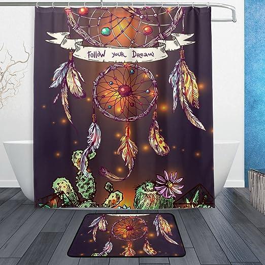 Wunderschone Boho Stil Dreamcatcher 3tlg Badezimmer Set