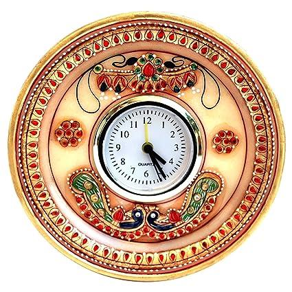 MULTI COLORED KUNDAN WORK CLOCK IN MARBLE