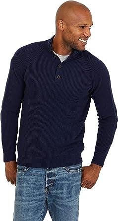 Jack Stuart – Jersey con Cuello Alto para Hombre, 100% Lana ...
