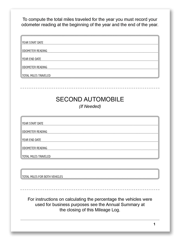 amazon com bookfactory auto mileage log book automobile expense