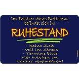 """Frühstücksbrettchen Brotzeitbrettchen """"Besitzer im Ruhestand"""" Resopal 23,5x14..."""
