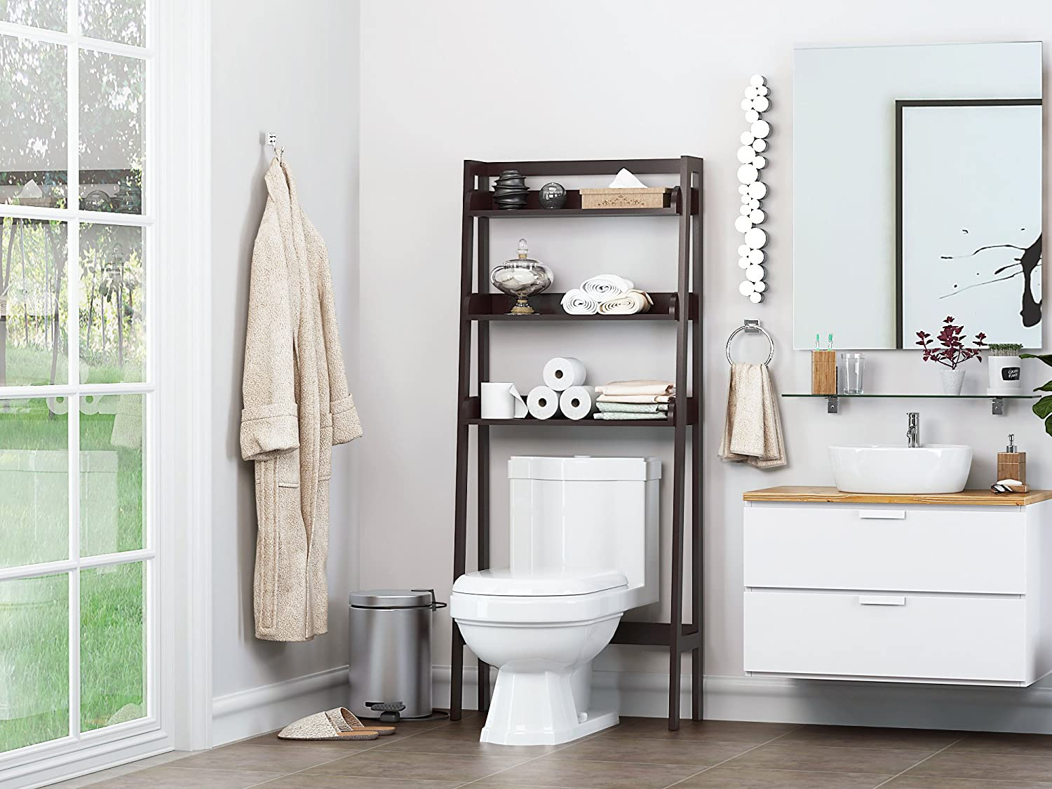 Image result for over toilet storage