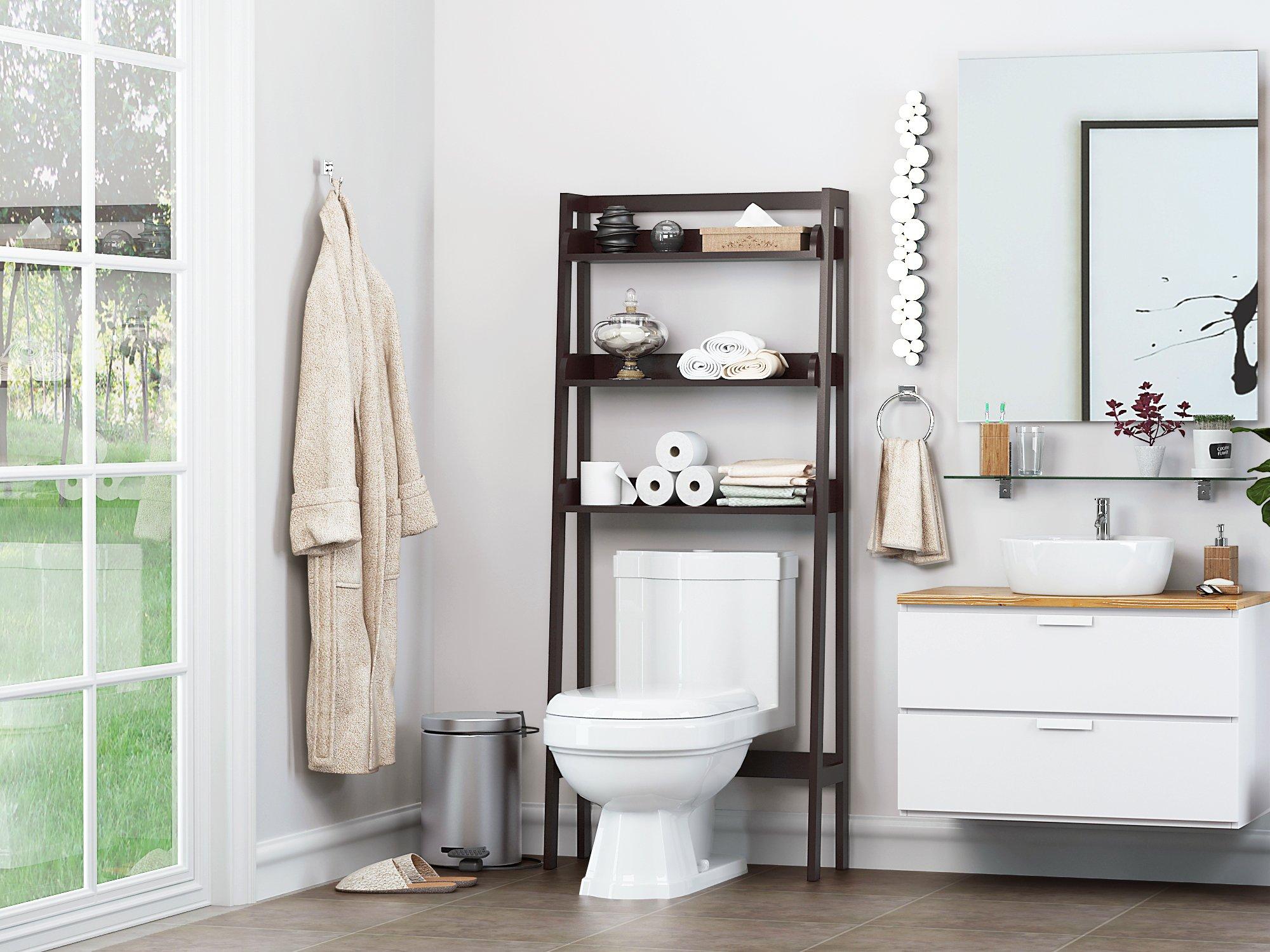 UTEX 3-Shelf Bathroom Organizer Over The Toilet, Bathroom ...