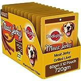 Pedigree Meat Jerky Stix, Grilled Liver Flavoured Adult Dog Treats – 60 g (Pack of 12)