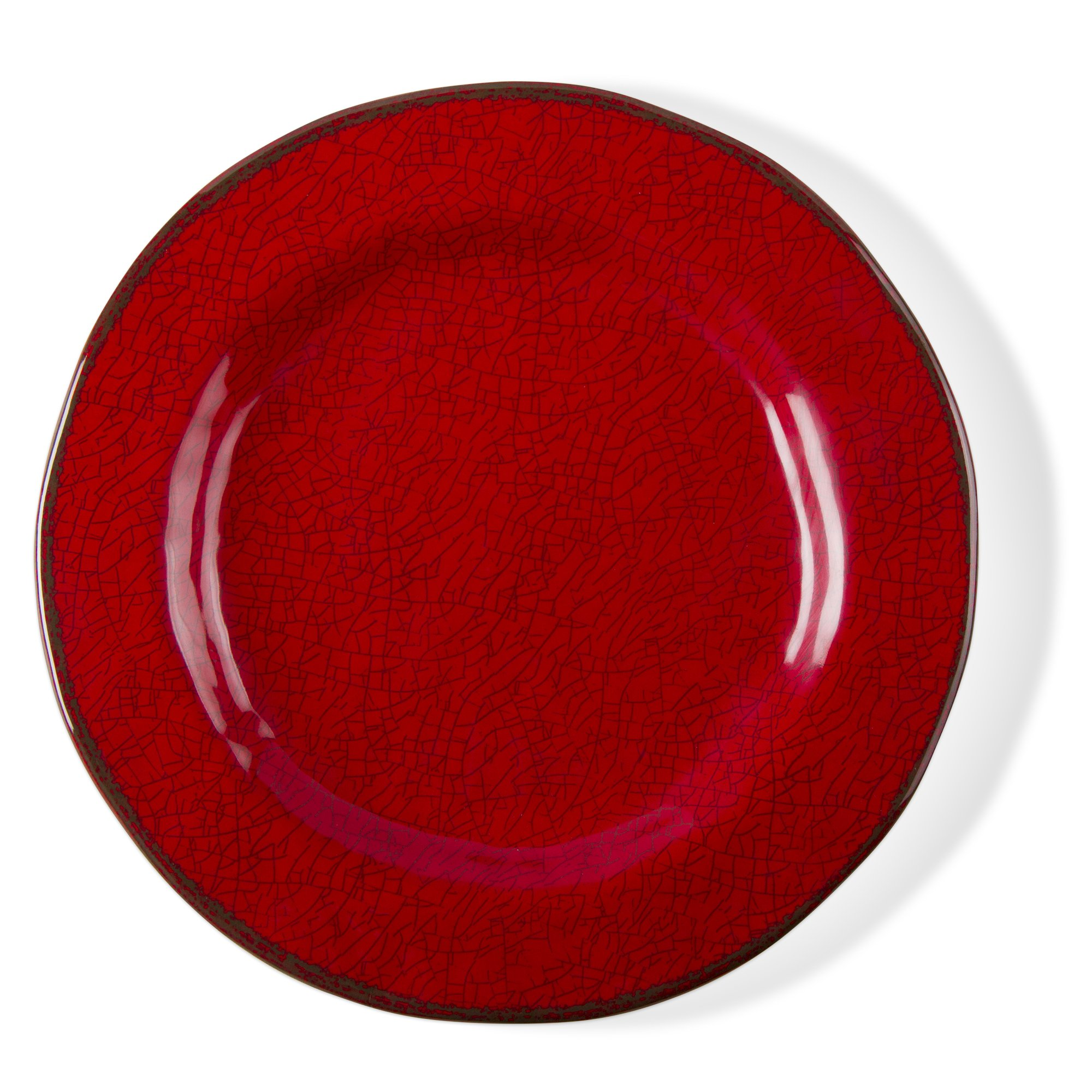tag - Veranda Melamine Salad Plate, Durable, BPA-Free and Great for Outdoor or Casual Meals (Set Of 4) (4, Red) by tag