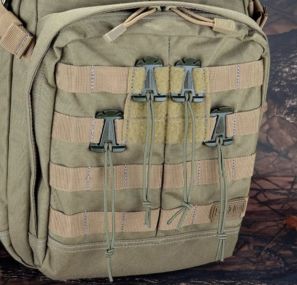 """Web Dominator With Elastic Rope 1/"""" Buckle Tactical Backpack Hydration Tube Clip"""