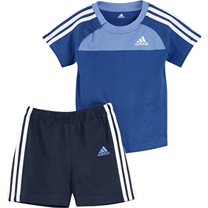 adidas - Chándal para niños de 3 Rayas 3S Set blubea/balgbl/Wht ...