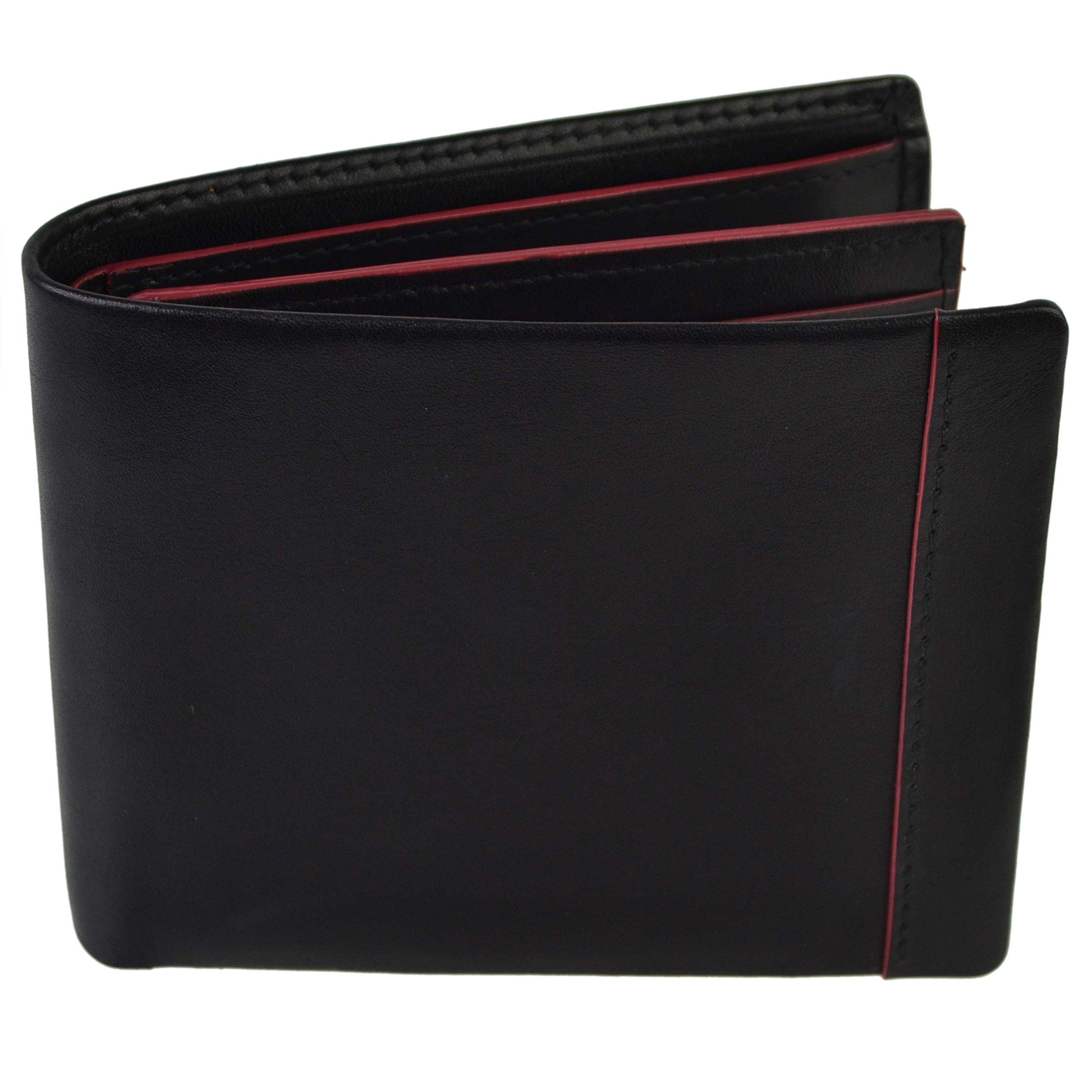 Golunski Real Leather Bi-Fold Wallet By Gift Boxed Coloured Hightlights