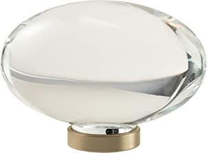 Glacio 1-3/4 in (44 mm) Length Clear/Golden Champagne Cabinet Knob