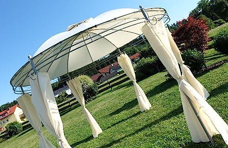 Gazebo elegante 3, 5 metros de diámetro con 6 cortinas 7073-A ...