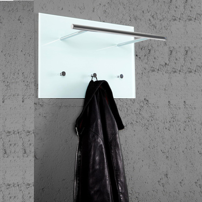 DESIGN DELIGHTS PRAKTISCHE WANDGARDEOBE AZZARETTI Garderobe mit Haken Handtuchhalter aus Glas und Chrom Xtradefactory GmbH