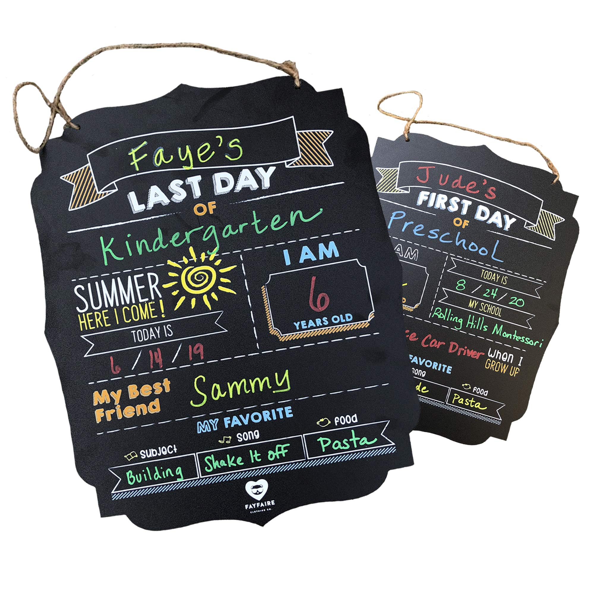 """First Day of School Board 