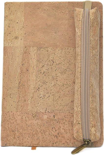 Pack cuaderno corcho natural + estuche de corcho prensado (Natural): Amazon.es: Oficina y papelería