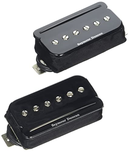 amazon com: seymour duncan p-rails set black electric guitar electronics:  musical instruments